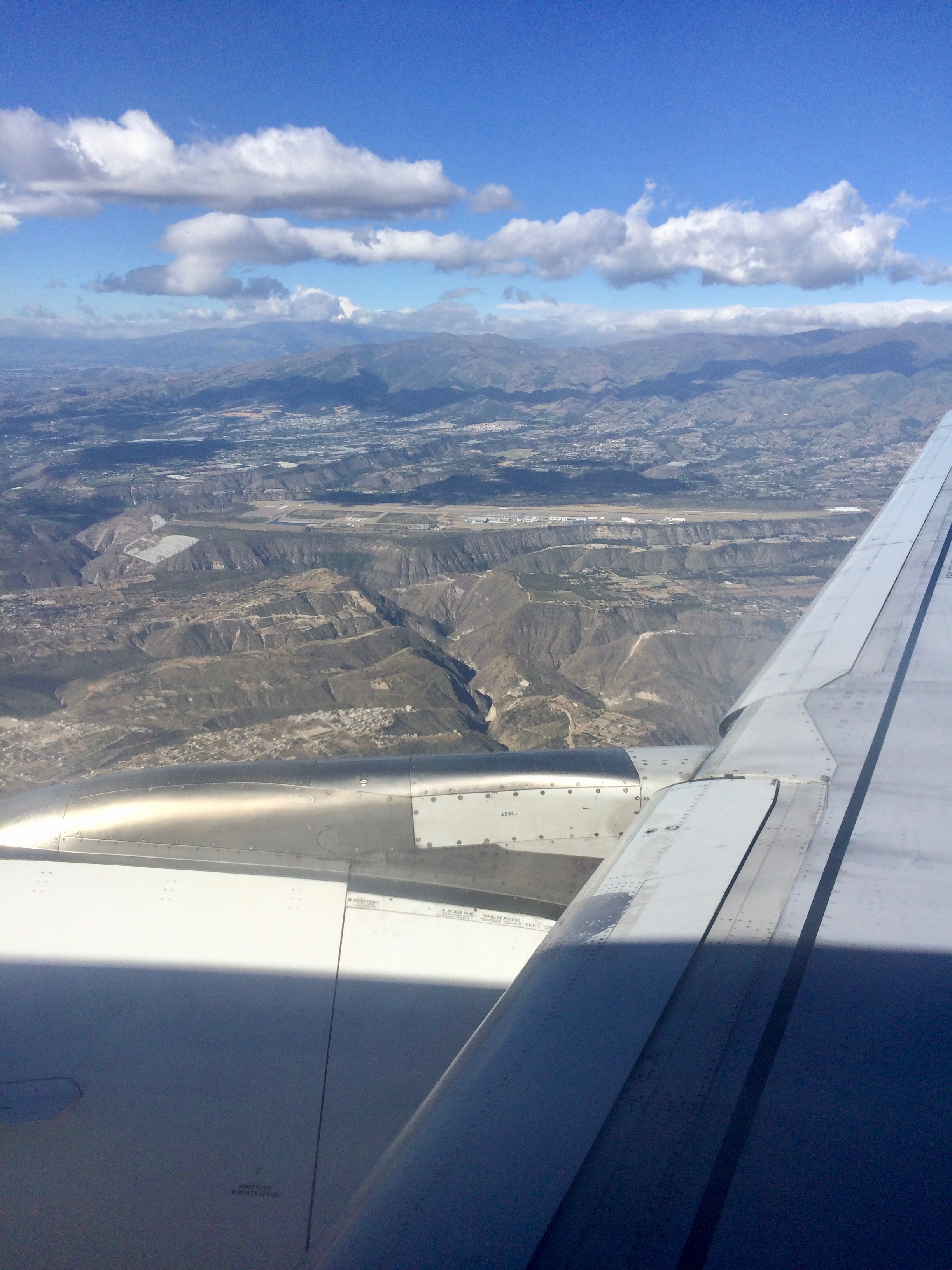 flying into Quito